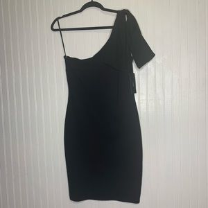 LuLus One Shoulder Little Black Dress *NWT*